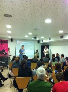 Mònica Mateu a la presentació de la UESC
