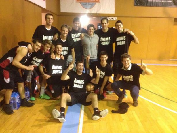 El Sénior Masc 1 va dedicar la victoria al lesionat Vilavella (S. Muntané)