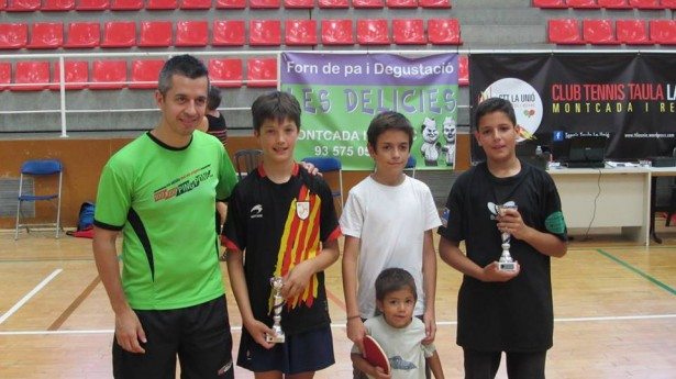 J.Antón, G.Oliveras, J.Pradas i N.Carretero, jugadors de la UESC
