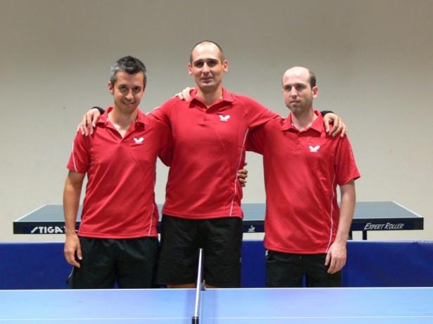 Enric Bosch (dreta) amb Josep Antón i Francesc Castillo