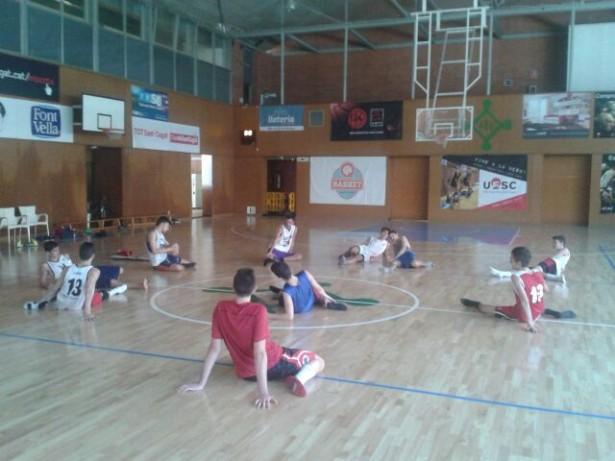 Entrenament dels jugadors de Ramon Cuñé