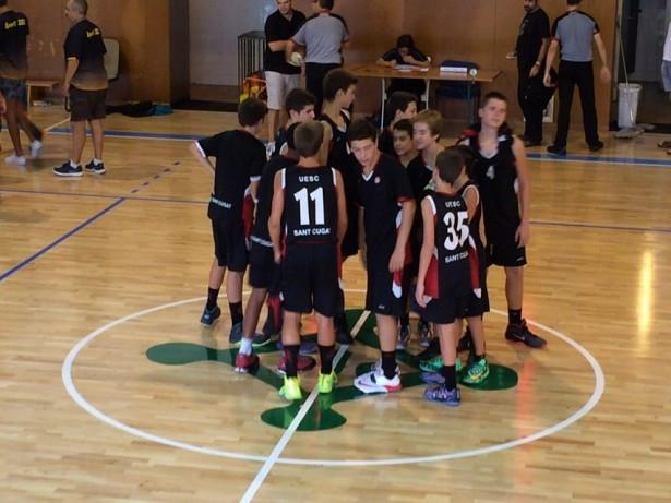 En l'últim partit la UESC ha perdut (55-75) davant el CB Calella / FOTO: Vicenç Beltran