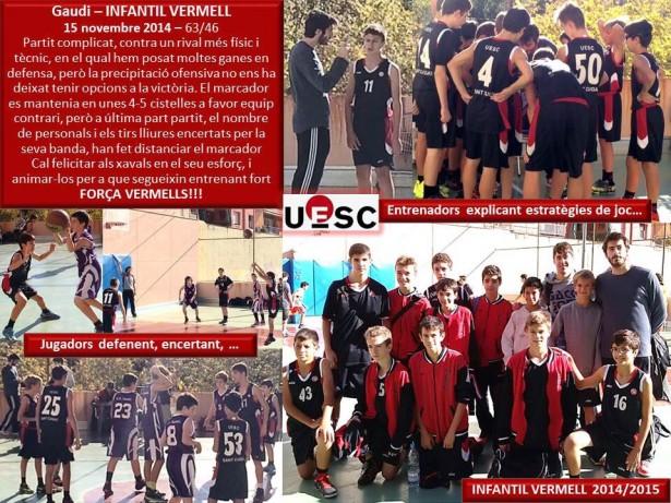 CB La Salle Horta - Infantil Vermell Masc 2014-2015 1