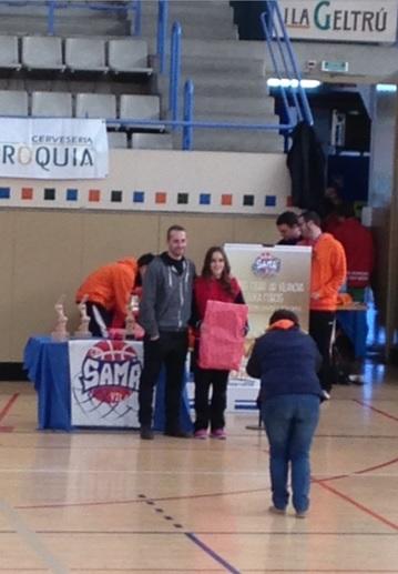 Cadet 1 Fem 2014-2015 Torneig Ciutat de Vilanova Marta Colàs MVP