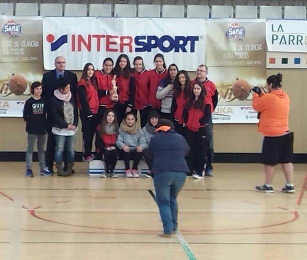 Cadet 1 Fem 2014-2015 Torneig Ciutat de Vilanova campiones 1