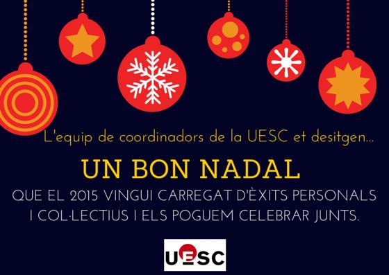 Felicitació coordinadors UESC