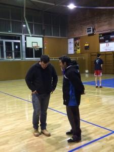 Mario del Campo conversant amb Andreu Cervera