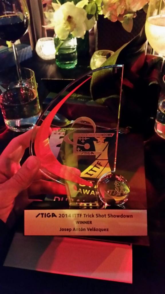 Josep Anton títol ITTF Star Awards 2014 1