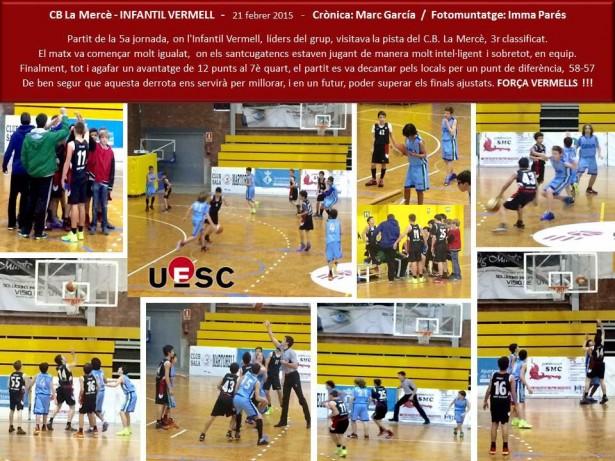 CB La Mercè - Infantil Vermell Masc 2014-2015
