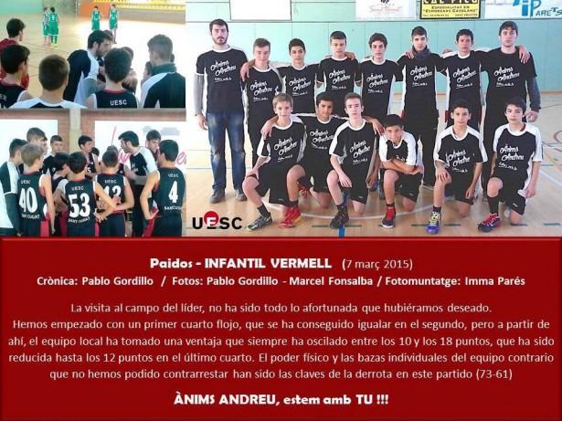 Paidos ASFE - Infantil Vermell Masc 2014-2015 muntatge