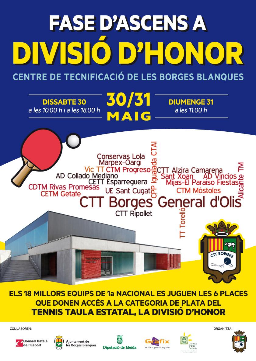 CTT Borges Ascens a divisió d'honor