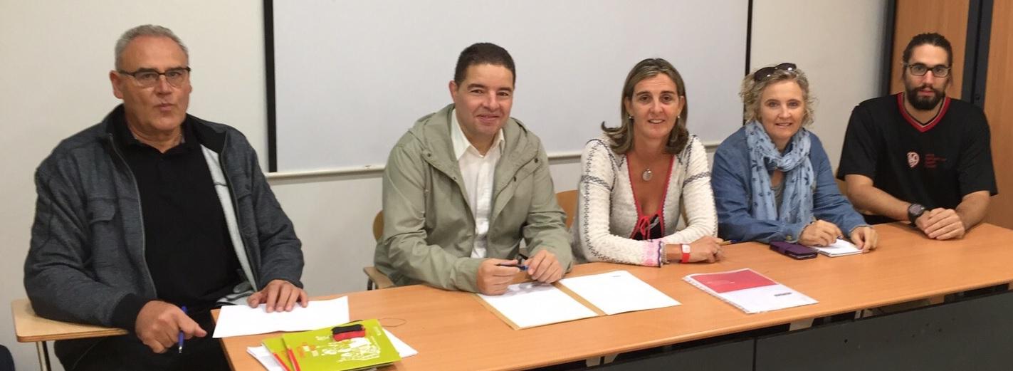 Martínez, Salarich, Mateu, Guivernau i Antràs han signat l'adhesió