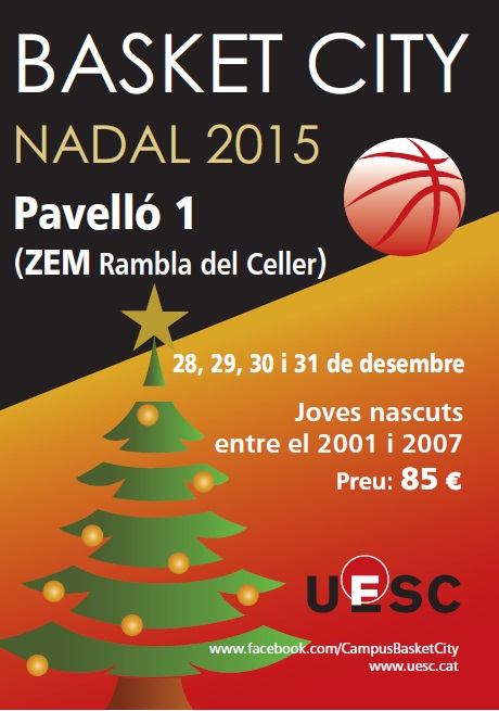 Pòster Basket City Nadal 2015 UESC