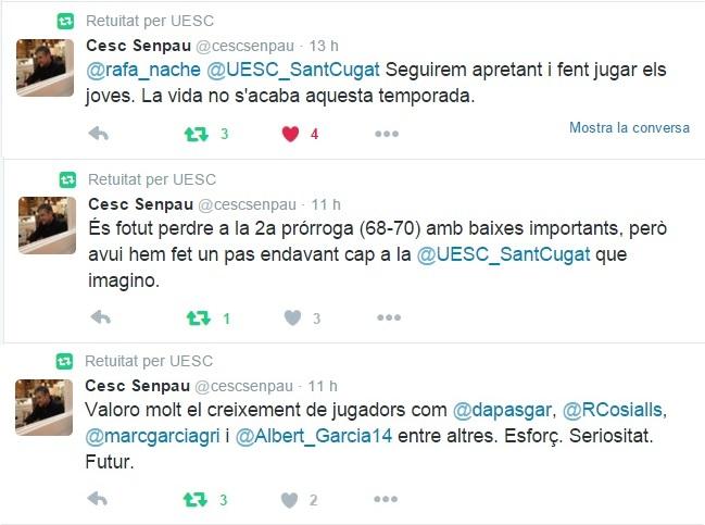 La sèrie de piulades de Senpau a twitter