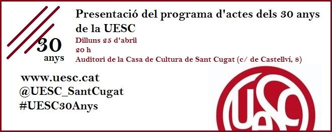 30 anys UESC presentacio programa activitats