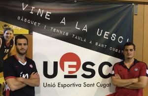 Jordi Costa i Dani Fernandez Coordinadors area masculina UESC 2016-2017