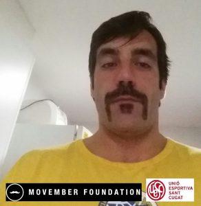 Pere Soler 'Pistol', el bigoti per excel·lència del primer equip UE Sant Cugat